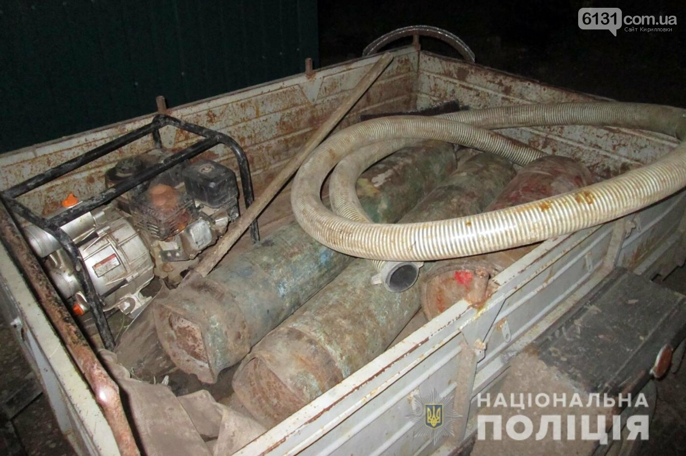 На території Якимівського району затримали крадіїв труб системи зрошення, фото-1