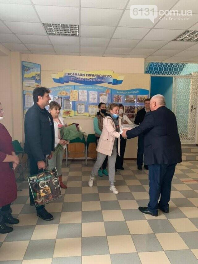 Працівники закладів культури Кирилівської ОТГ приймали вітання зі святом, фото-5