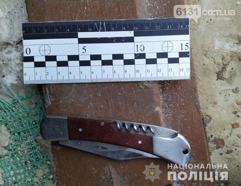 На території Кирилівської ОТГ житель Солоного зазнав ножового поранення, фото-1