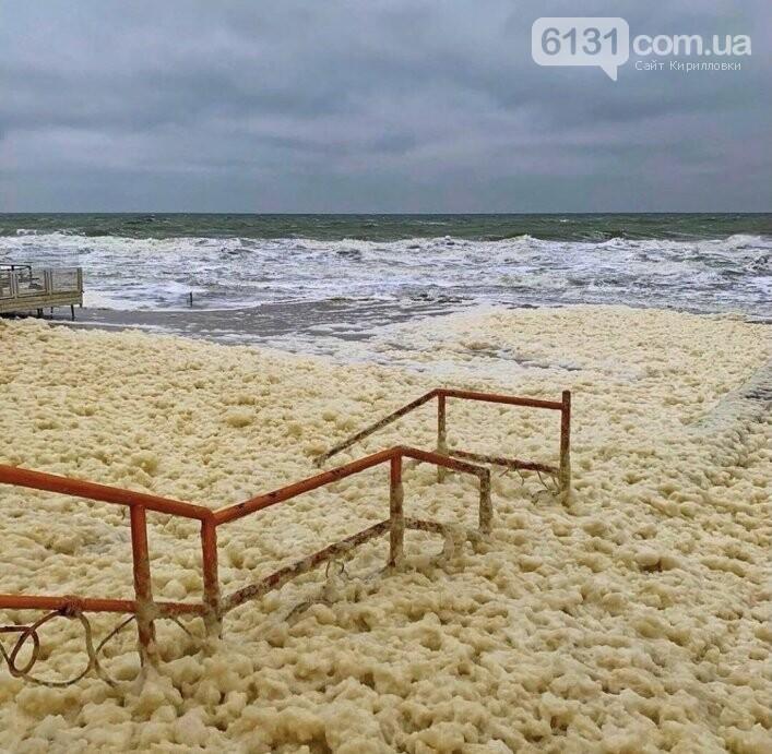 Шторм у Кирилівці створив феєричний пейзаж, фото-1