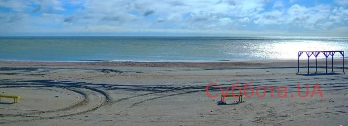 У  Кирилівці вітер відігнав море від берега, фото-2